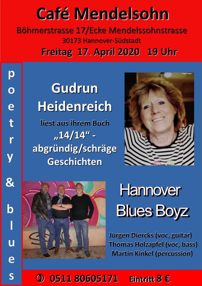 Gudrun Heidenreich liest im Cafe Mendelsohn